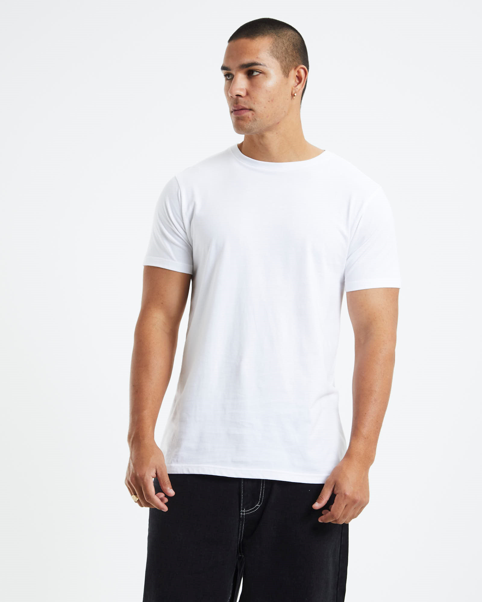 b47d10c6ad3ec7 General Pants Co. Basics Longline Tall T-Shirt White