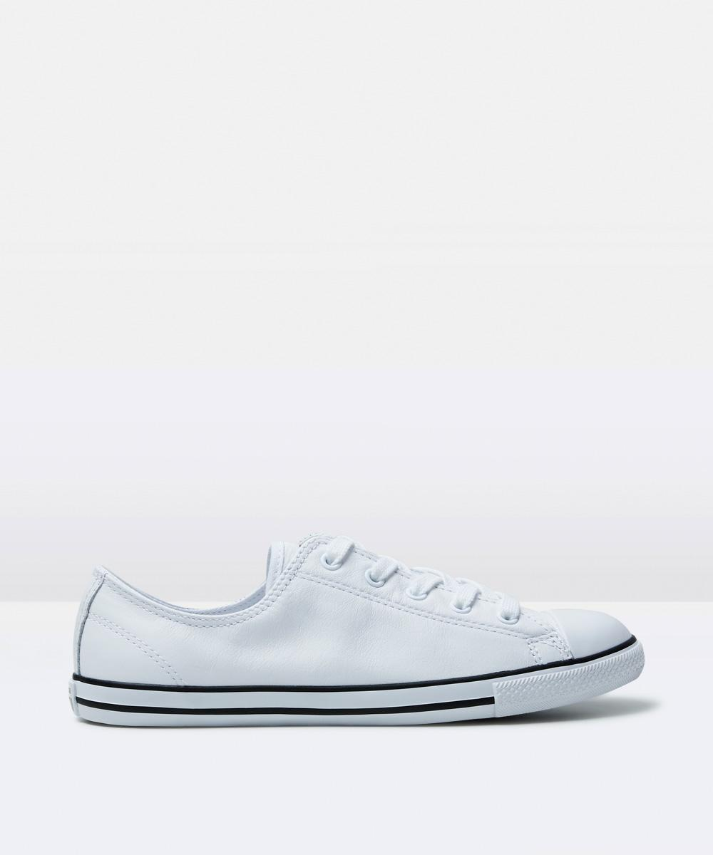 64d4e5d2e65 Converse Chuck Taylor All Star Dainty Leather Sneakers White Shoe ...