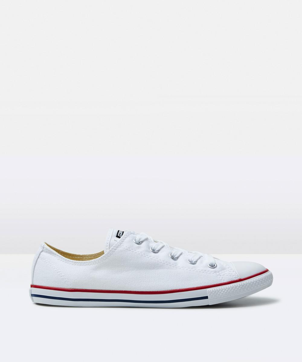 5161cf297576 Converse Chuck Taylor All Star Dainty Leather Sneakers White ...