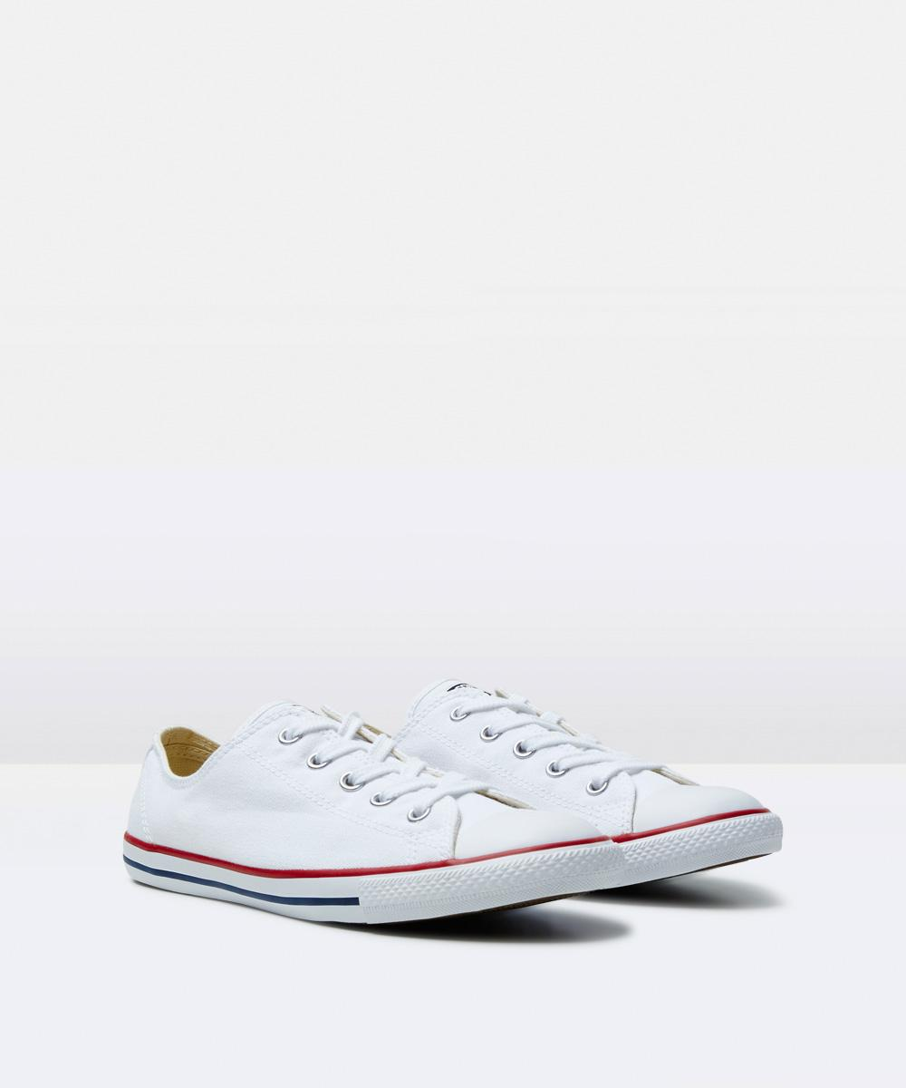 0bbbe7086391 Converse Chuck Taylor All Star Dainty Leather Sneakers White ...
