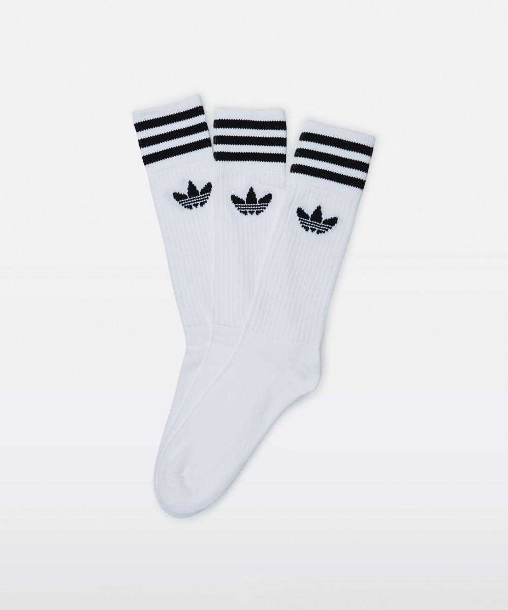 Image of Adidas - Solid Crew Sock White