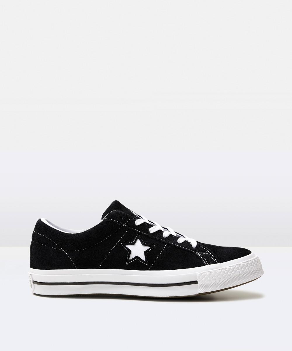 Converse - One Star Suede Black/white 15993600023