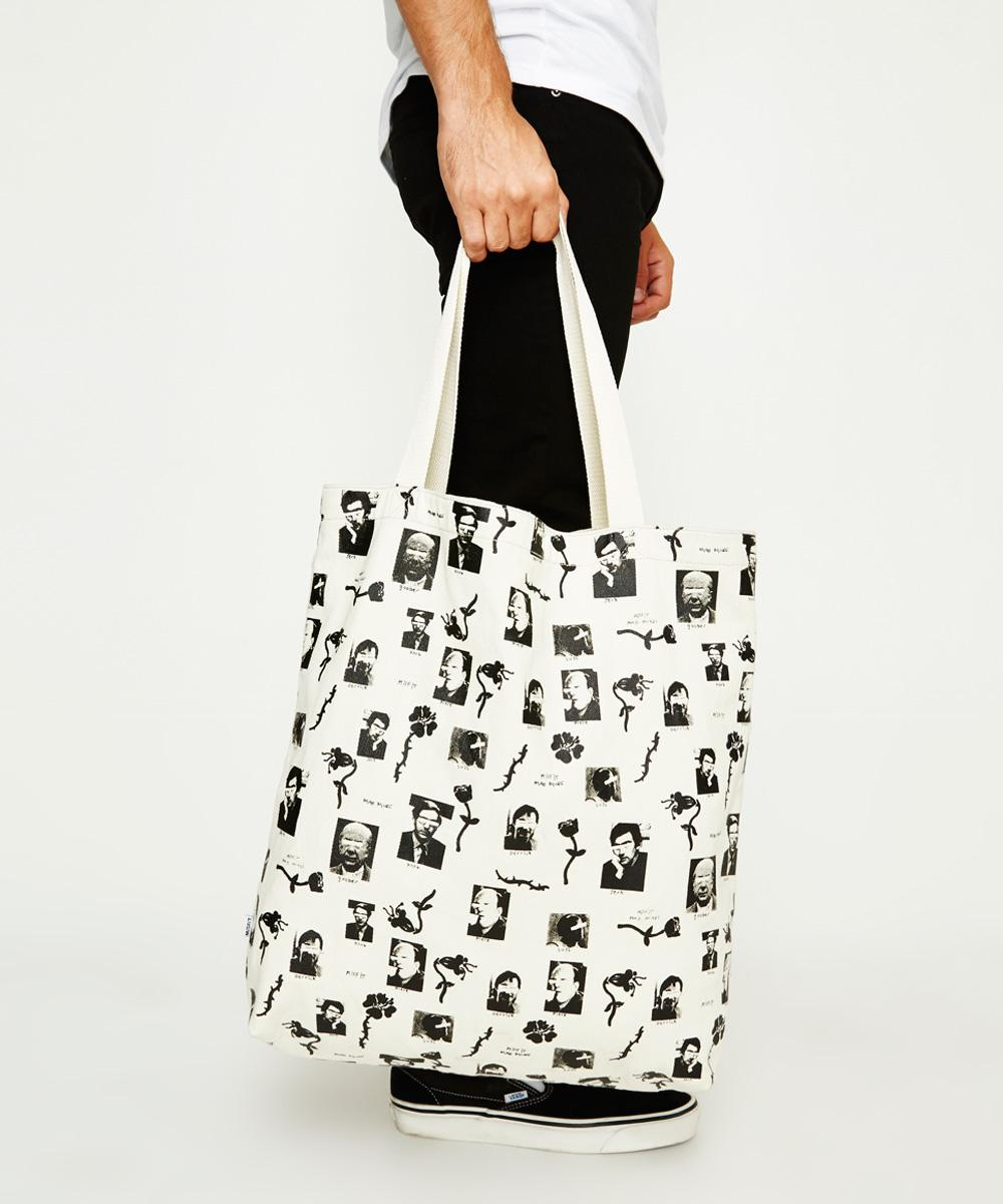 Misfit - Dad's Mates Tote Washed White 16578200005