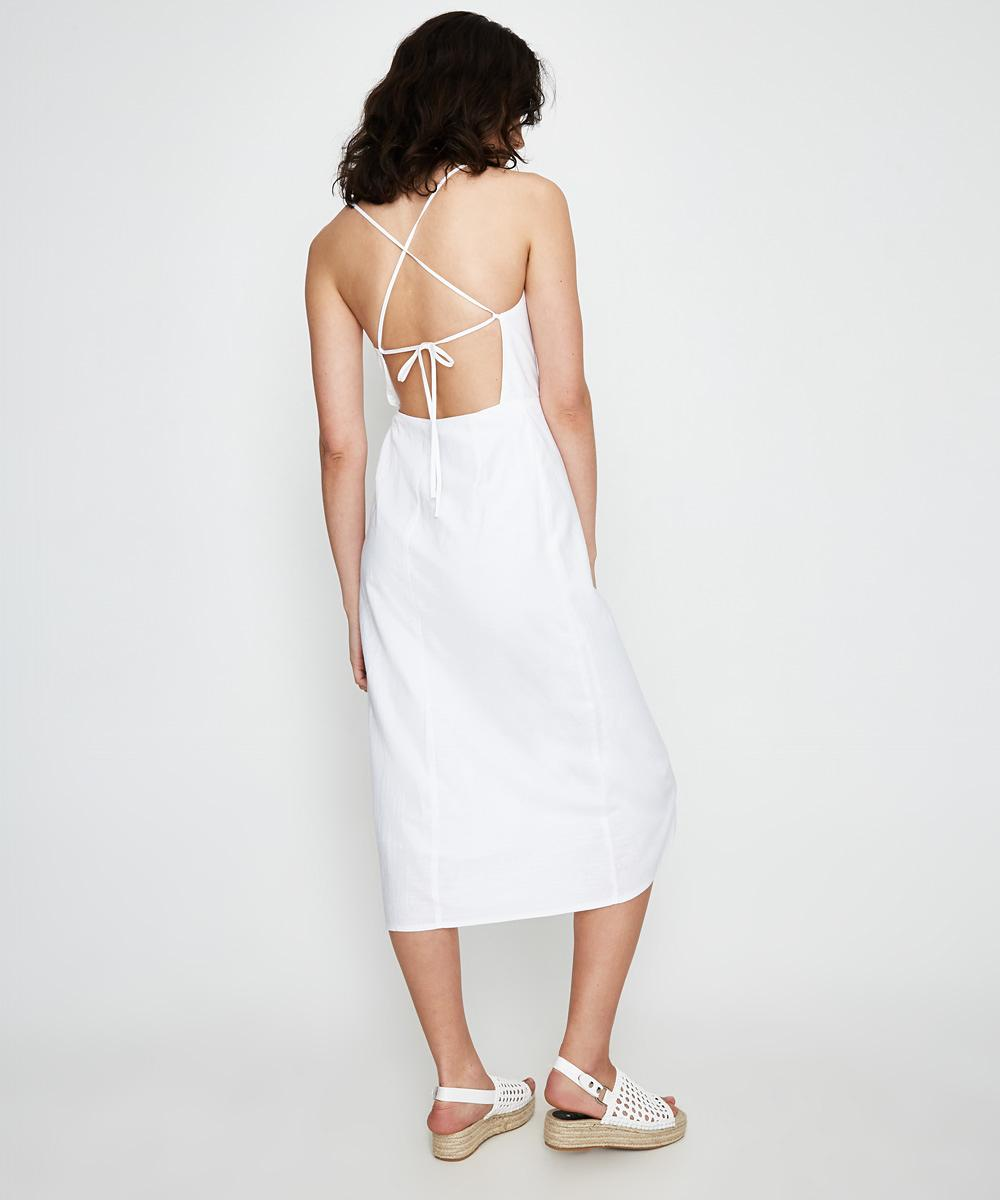 066a9fe801d Alice In The Eve Halle Backless Midi Dress White