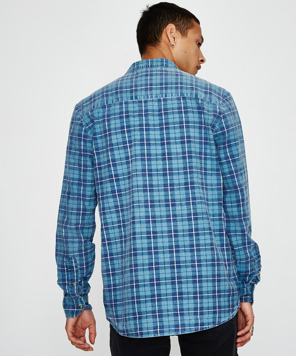 NEW Rolla/'s Rollas MENS TRADIE CHECK SHIRT SUFFOLK BLUE