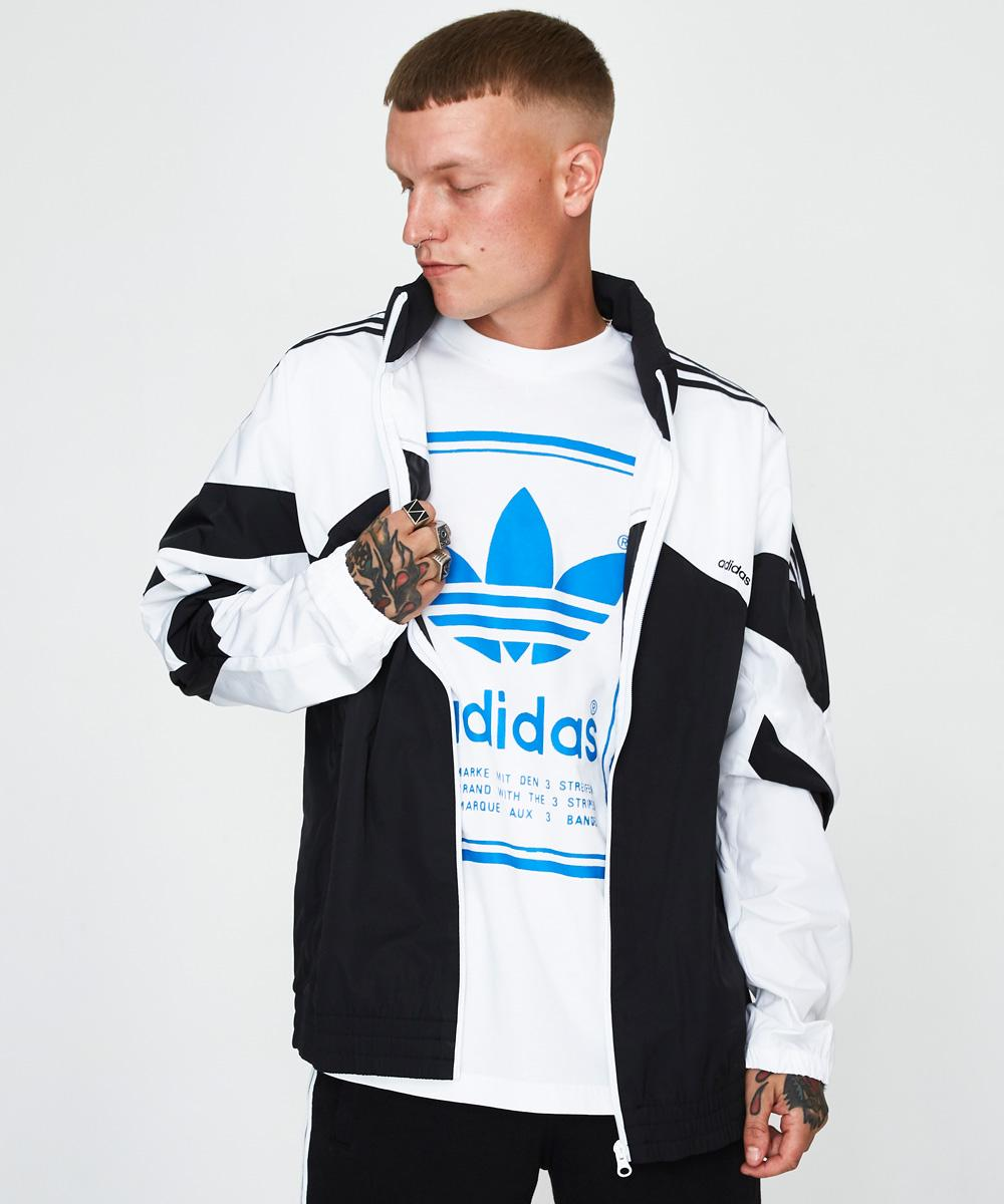 ea13976eae Adidas Palmeston Jacket Blac and White | Jackets | Clothing | Shop ...
