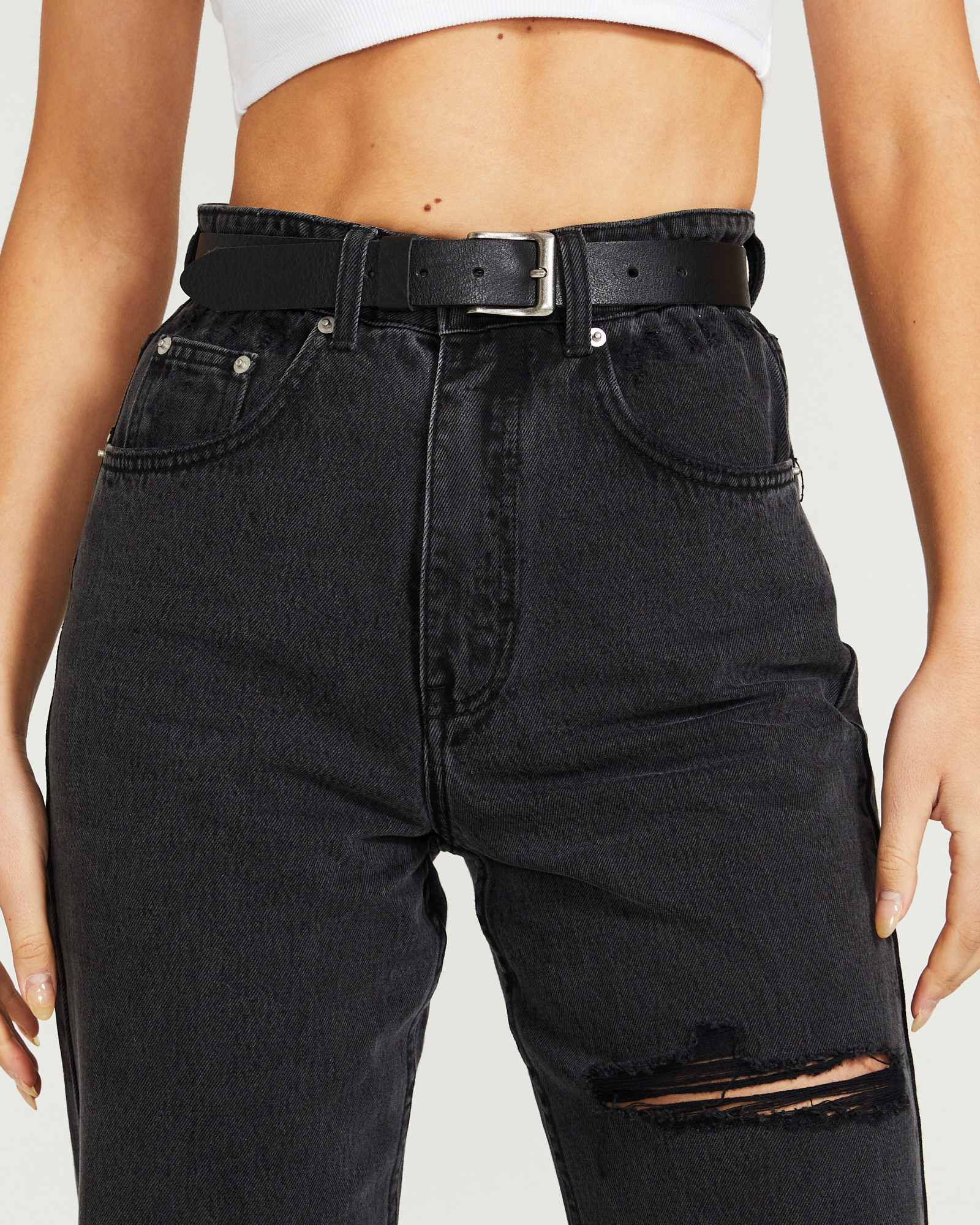 Don't Ask Amanda - Genuine Leather Belt Black 17120800022