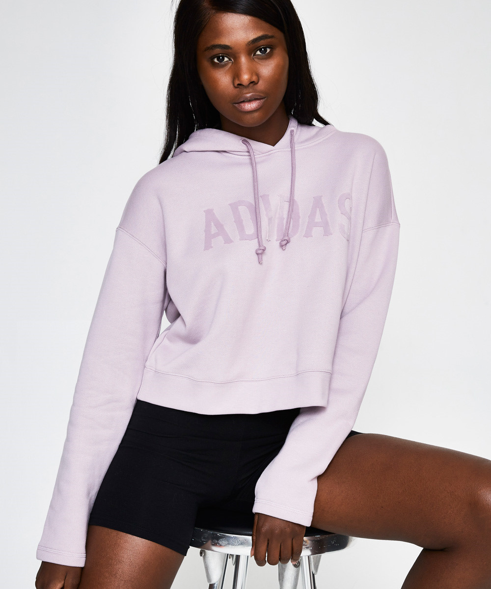 Image of Adidas - Adidas Cropped Hoodie Soft Vision