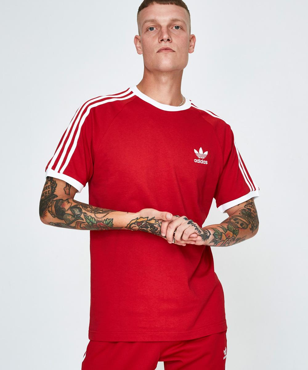 Image of Adidas - 3 Stripes T-shirt Red