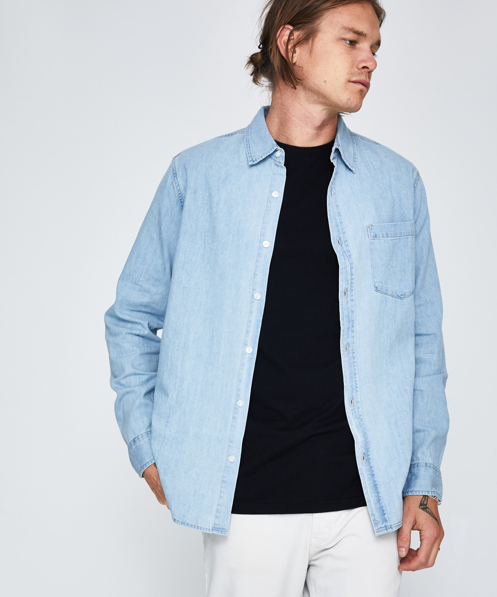 Waits Denim Long Sleeve Shirt by General Pants Co