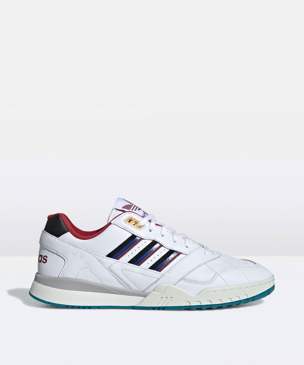 Image of Adidas - A.r Trainer Sneakers White/burgandy