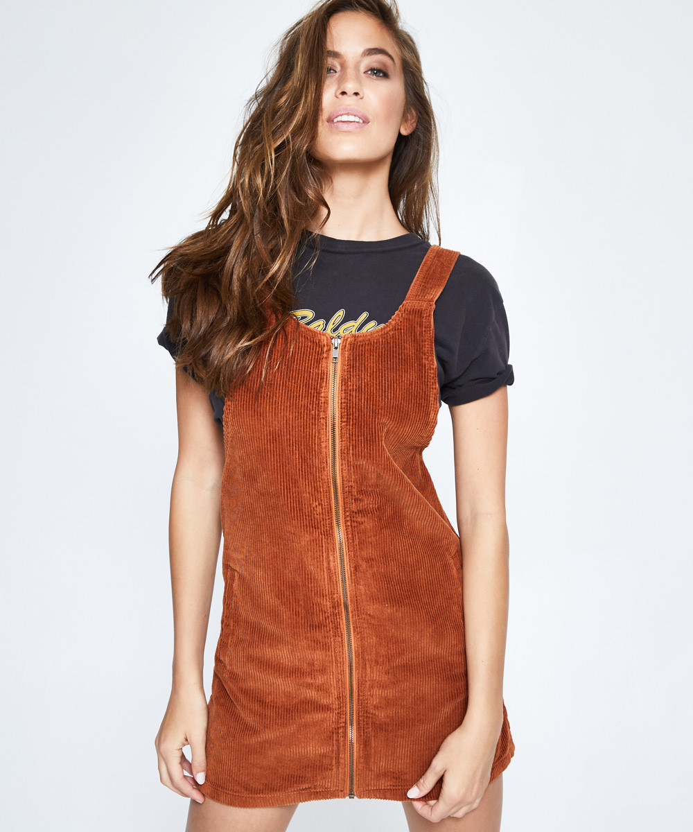 ea9d32f2fae Afends Jordan Pinafore Dress Rust | Dresses | Clothing | Shop Womens |  General Pants Japan