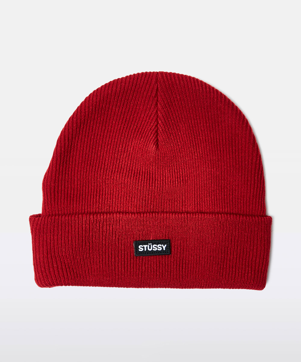 Watch Cuff Boxed Italic Beanie Red by General Pants Co
