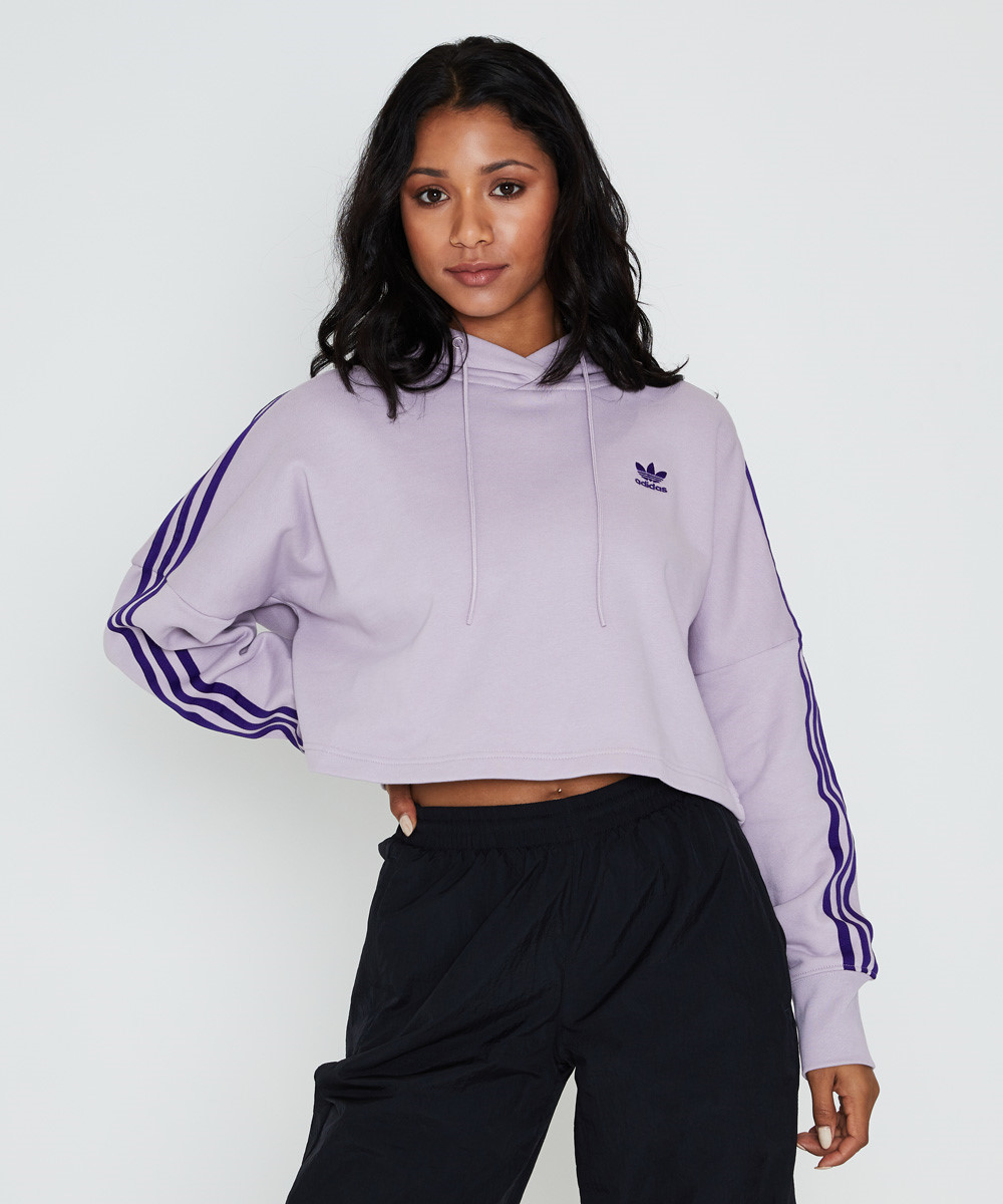 Image of Adidas - Cropped Foundation Hoodie Soft Vision Lilac