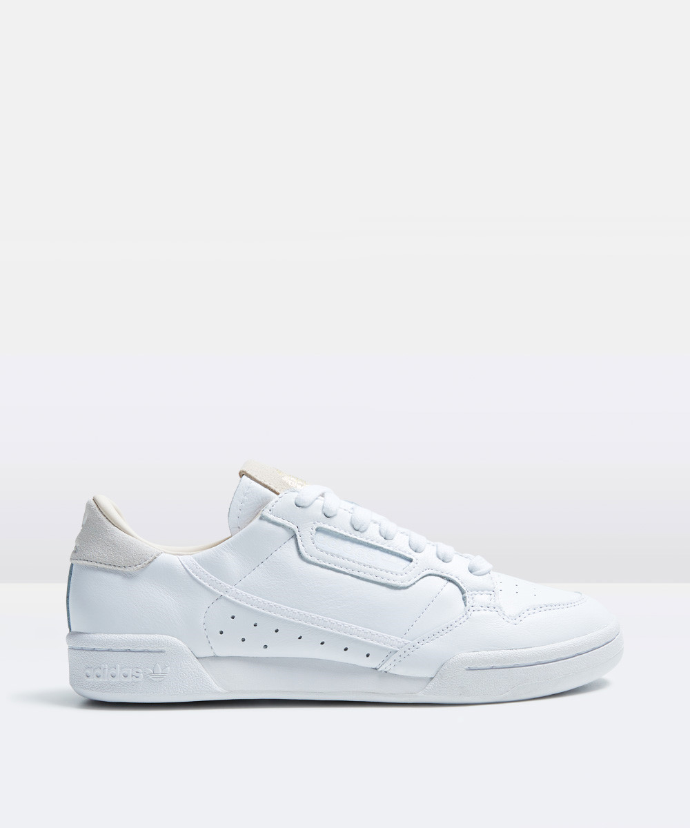 Image of Adidas - Continental 80 Sneakers All White